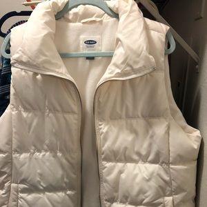 Off white XL Old Navy Vest